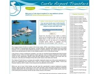 Corfu airport transfer services