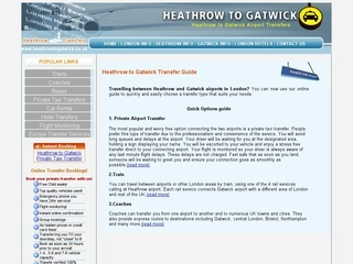 Heathrow to Gatwick airport transfer services