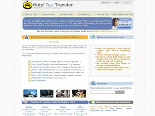 Hotel transfer taxi services